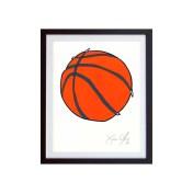 Basketball-Color-Framed-Small-Work-on-Paper-Jason-Oliva