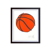 Basketball-Color-Framed-Small-Work-on-Paper-Jason-Oliva
