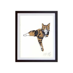 Cat-color-framed-small-work-on-paper-jason-oliva