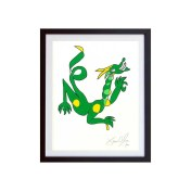Dragon-Color-framed-small-work-on-paper-jason-oliva