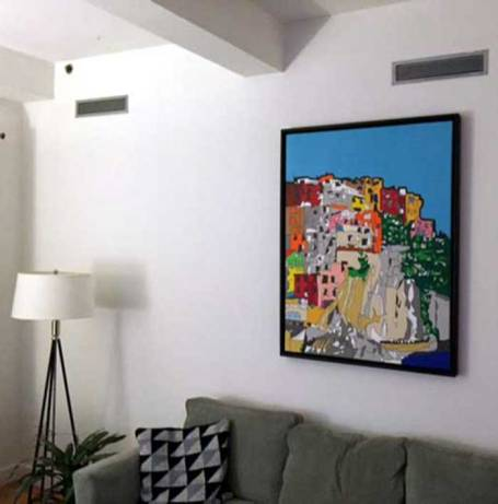 Cinque Terre Painting framed and on display