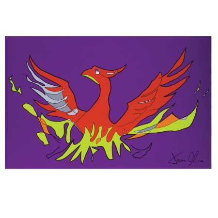 Phoenix 2015 sold painting by Jason Oliva closeup