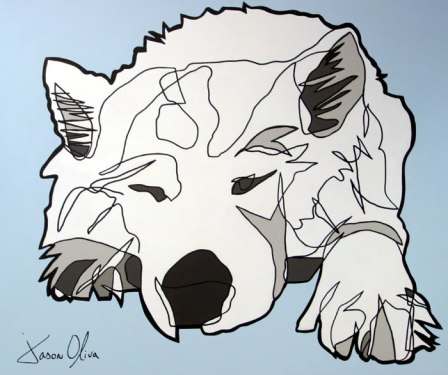 Dog Portrait Lumi by Jason Oliva