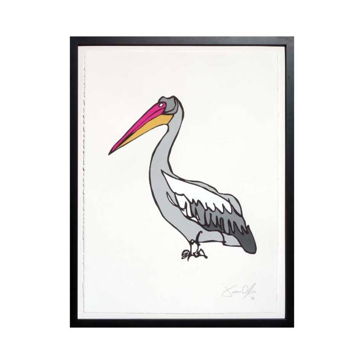 Pelican Medium work on paper by Jason Oliva available on Etsy