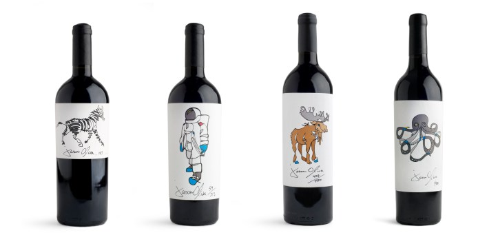 Jason Oliva Wine Collection Stripey Horse Astronaut Moose Octopus South African Wine