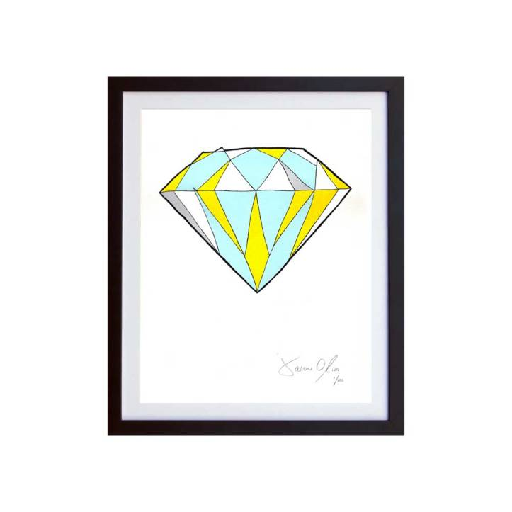 Frame Diamond SMall work on paper Edition of 100 by Jason Oliva