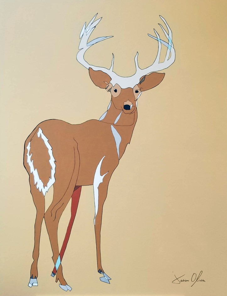 Deer 2020 Jason Oliva Painting