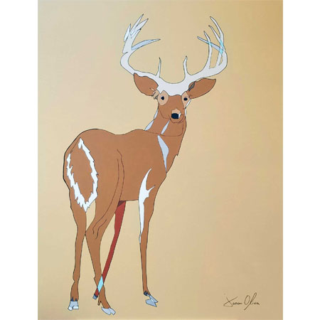Deer 2020 painting by NYC artist Jason Oliva