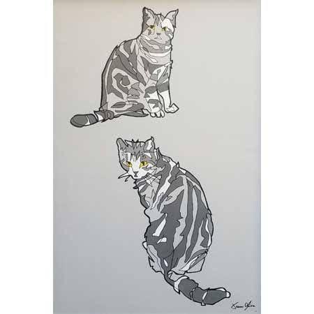 Cat portrait 2019 Jason Oliva Painting