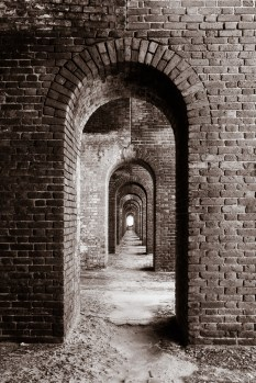 There are rows and rows of arches in this place. This was my favorite photo of one of them.