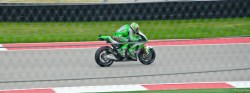 Nicky Hayden Putting on a Show for the Home Race