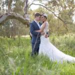 Bridal Photography of Bride and Groom at Wonga Wetlands in Albury NSW