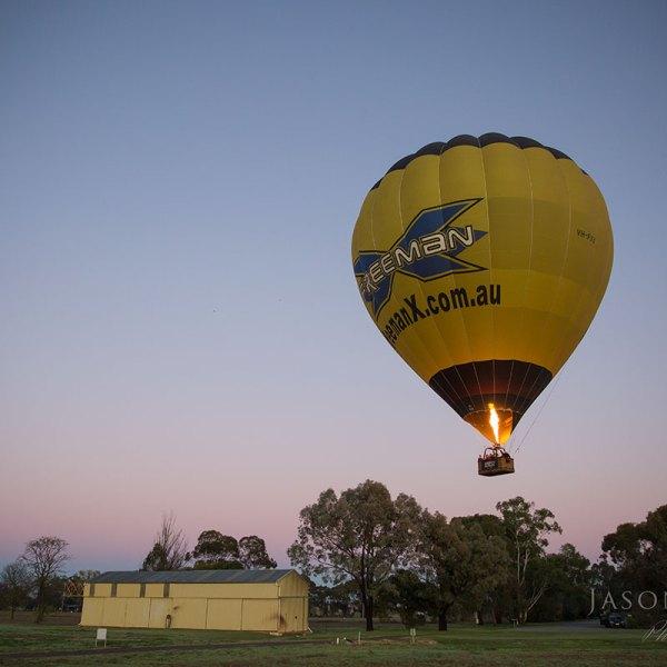 Brown Brothers Winery Milawa & Goldrush Ballooning Hot Air Balloon Flight Albury Wodonga