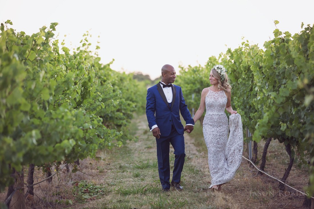 All Saints Estate Winery Wedding by Photographer Jason Robins.