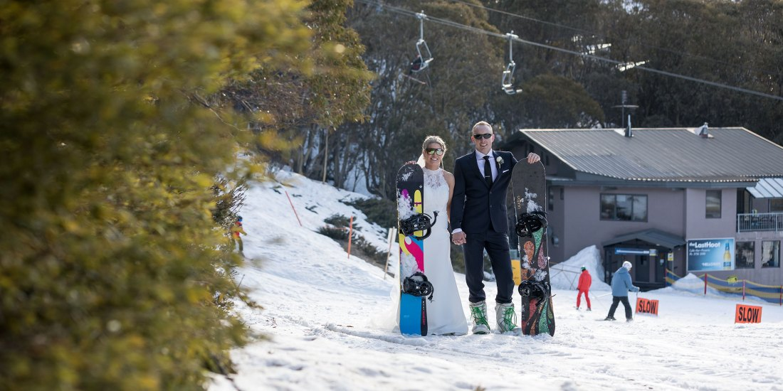 Snow Wedding Photography at Falls Creek Victoria by Destination Wedding Photographer Jason Robins