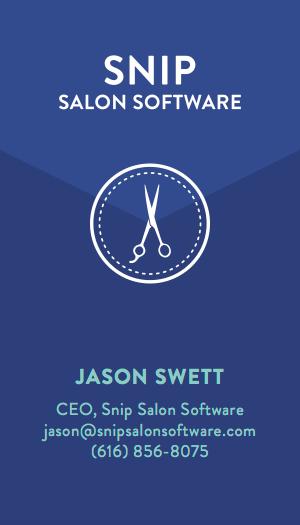 Snip Salon Software Business Card