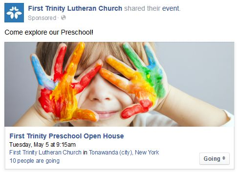 Preschool Facebook Ad 1