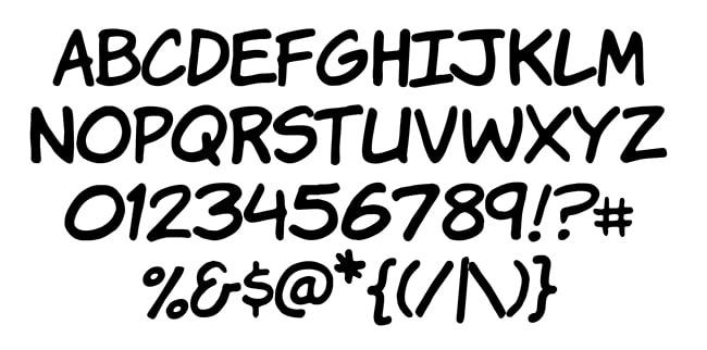 free komika comic font family