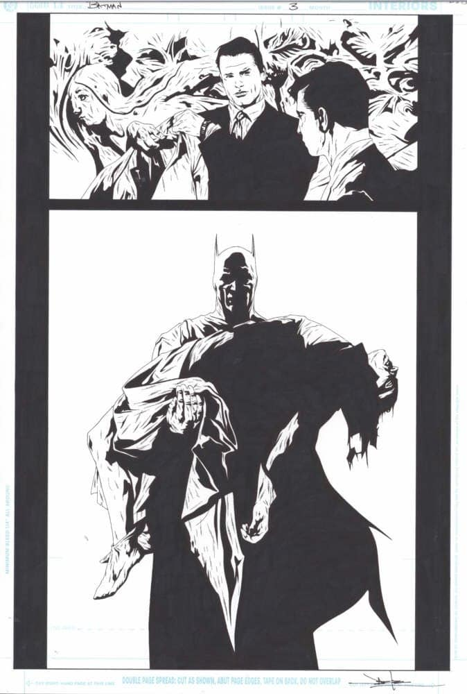 Jae Lee pen and ink original art