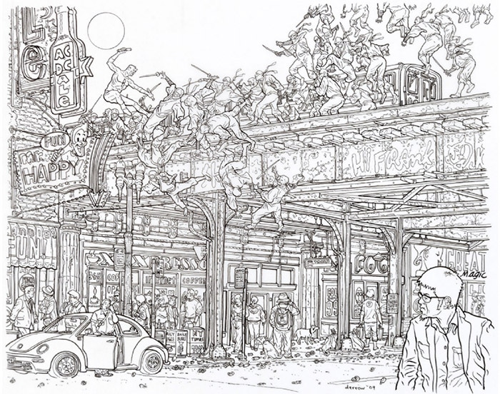 DD 500 pinup by Geof Darrow