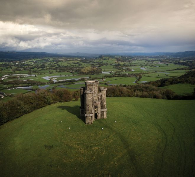 Paxton-tower-national-trust-wales-aerial-drone-towy-valley-landscape-wales-carmarthenshire-jasonthomasphoto