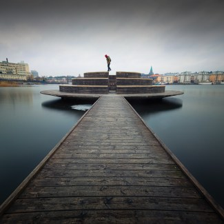 SELFIE ON A JETTY IN STOCKHOLM.