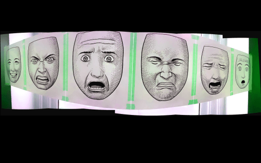 "Facial expression images from ""Making Comics"" ~ Scott McCloud 2006"