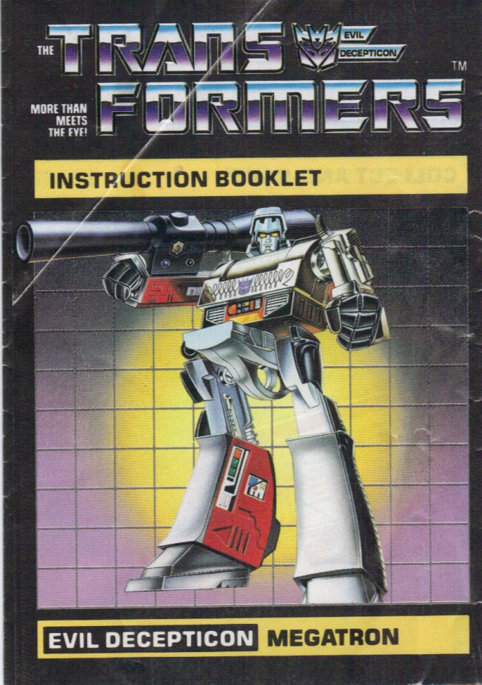 Random Quickie #5 - 1984 G1 Megatron Instruction Manual (1/2)