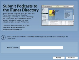 iTunes Podcast Submission