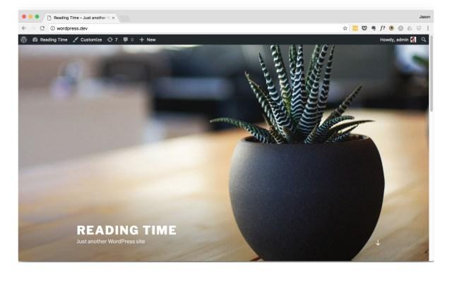 WordPress twentyseventeen Theme