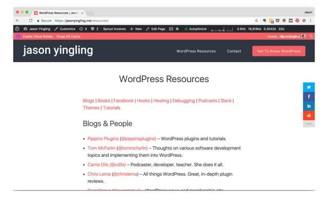 WordPress Admin Bar Overlflow