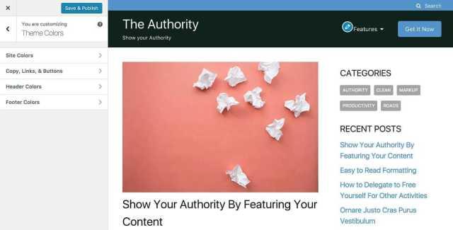 The Authority Customizer