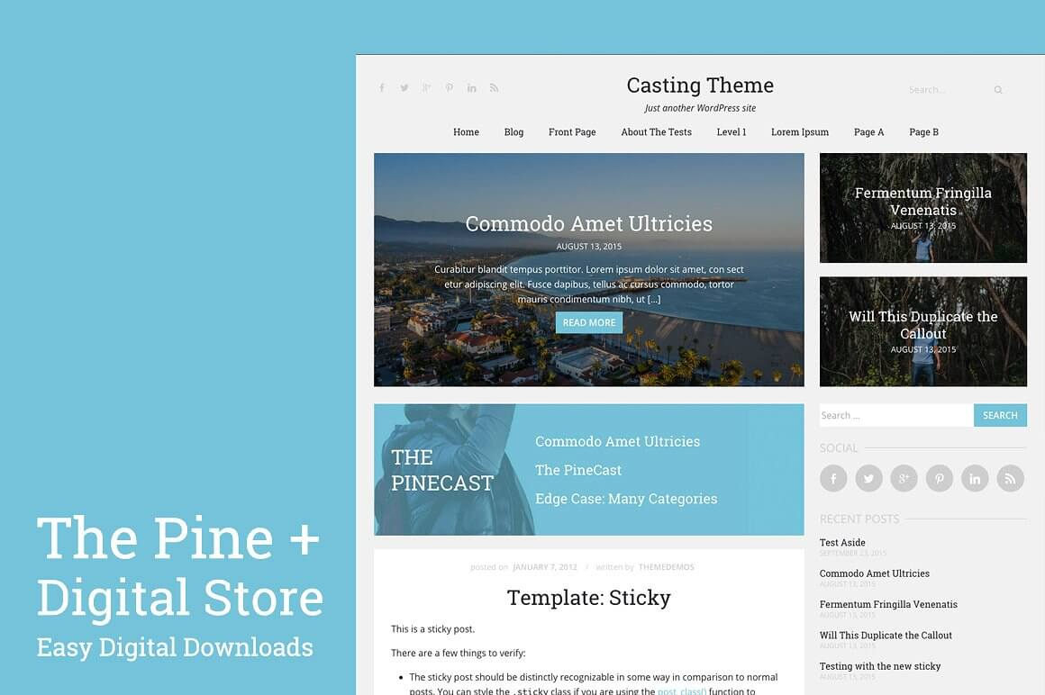 The Pine WordPress Theme