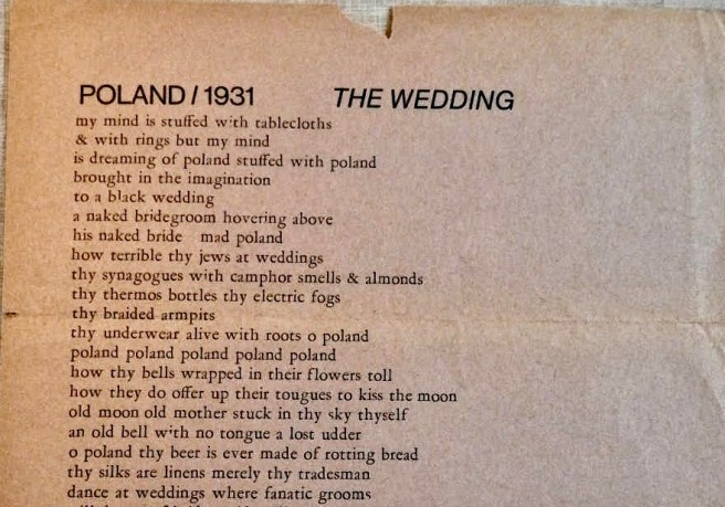 Poland1931BroadsideTheWedding1