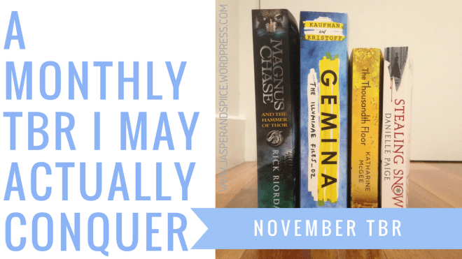 12 things i do 14 - A November TBR I May Actually Accomplish