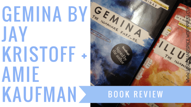gemina review cover image 1 - Gemina by J.Kristoff + A.Kaufman | Review