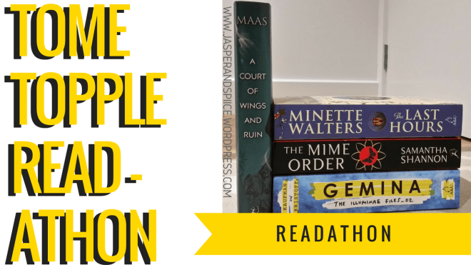 tome topple readathon blog header - Tome Topple Readathon