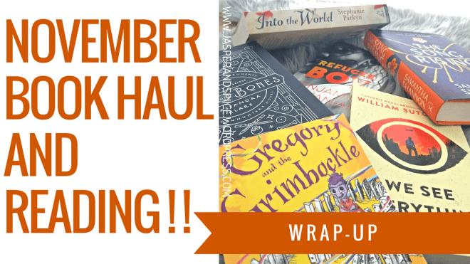november book haul and reading blog header - October/ November GIANT Book Haul + Reading