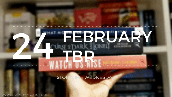 choosing my february tbr 24 blog header - Choosing A TBR (Short Story) StoryTime Wednesday #24