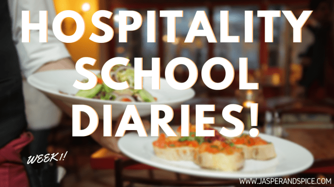 hospitality school diaries week 1 2019 header - Hospitality Course Week 1