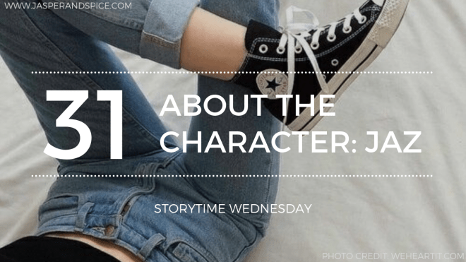 Realise About The Character  Jaz 2019 Blog Header Storytime Wednesday 1 - Meet The Character - Jaz  #Realise (SW#31)