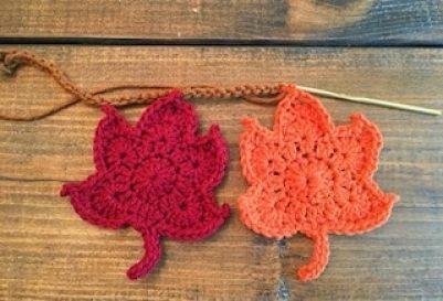 crochet tutorial beginner autumn leaf garland