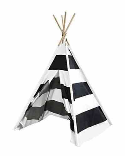 The Best Playroom Decor Finds On Amazon - black and white stripe teepee
