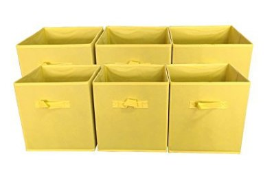 The Best Playroom Decor Finds On Amazon - yellow storage bins