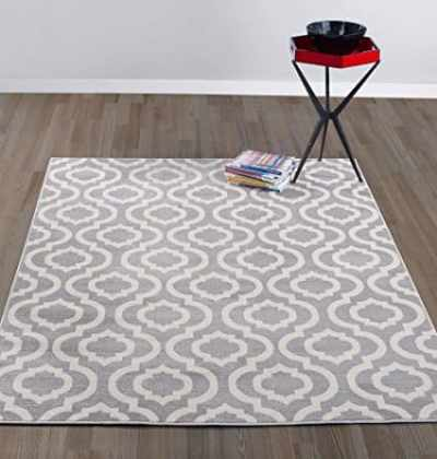 The Best Playroom Decor Finds On Amazon - trellis gray and ivory rug