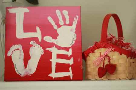 valentine's day ideas handprint craft