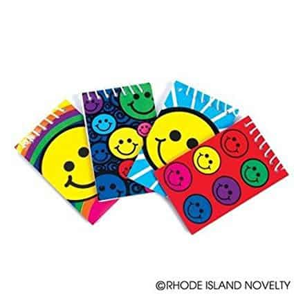 smiley face spiral notepads