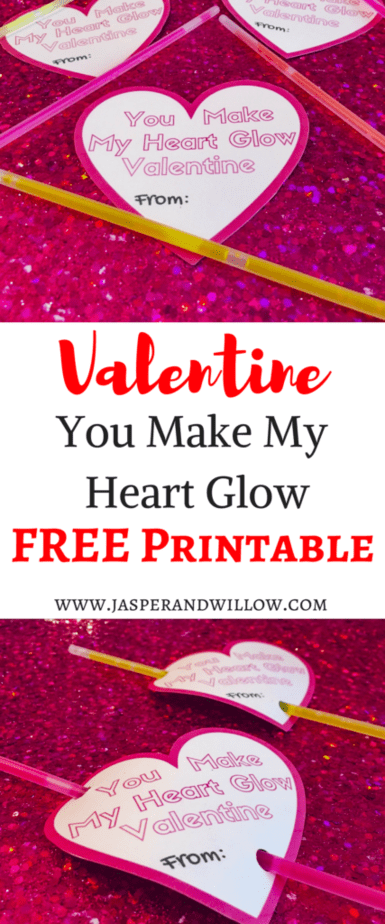 image about You Make My Heart Glow Printable referred to as Totally free Valentine Template Printable Card For Young children