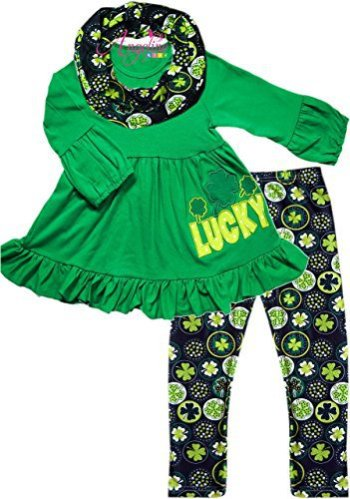 St Patrick's Day Lucky Outfit with Scarf