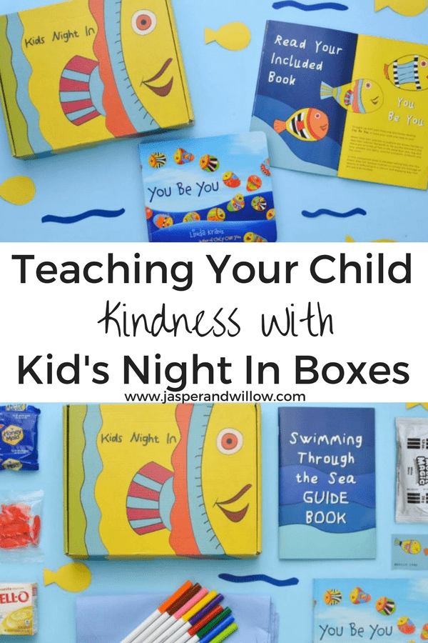 teaching your child kindness with kids night in boxes